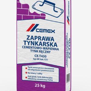 Zaprawa tynkarska cementowo-wapienna – tynk ręczny CX-T430